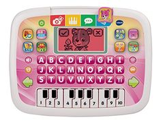 VTech Little Apps Tablet Pink.  Color changing screen; letter buttons and piano keyboard  12 learning activities with progressive learning levels  volume control and automatic shut-off to save battery...   toys4mykids.com