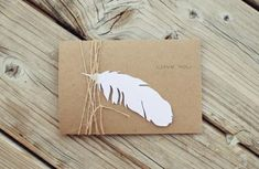 Painting idea- On canvas.put object down paper feather and paint entire canvas. Let dry and remove paper feather for a nice silhouette. Pretty Packaging, Gift Packaging, Baby Shower Parties, Baby Shower Themes, Shower Party, Wrapping Gift, Wrapping Ideas, Feather Cards, Paper Feathers