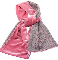 silk and tweed scarf
