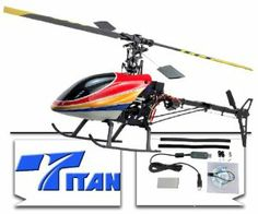 Titan Trex 450 Metal RC Helicopter 6CH 3D FLY RTF Ready To Fly For Real 3D Flights. by Top Race. $219.99. Equipped with the Titan 6 channel Transmitter. For 3-D Flights in All Directions Up Down Left Right Upside Down etc.. Titan Trex 450 Electric RC Helicopter 6CH 3D FLY RTF Ready To Fly!. Length: 26 Inches, Height: 10 Inches, Diameter for main blade: 28 Inches, Weight :27 Ounces! (750g). This is the Step Before Flying Gas Helicopters!. Titan Trex 450 RC R/C 2.4G Heli...