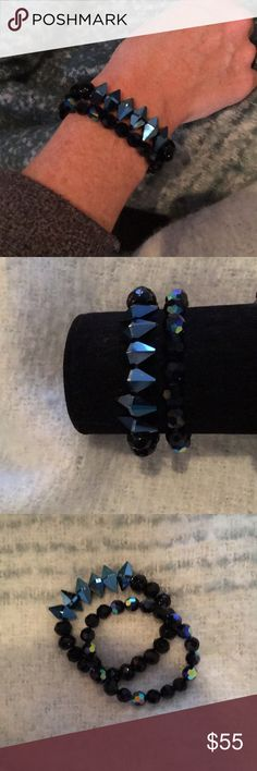 New Swarovski Crystal & Glass bead Bracelets. New Swarovski crystal, Czech fire polish glass 8mm & Glass bracelets. You can purchase the set for $55 or a single for $30. Made to fit size 6-8. Jewelry Bracelets