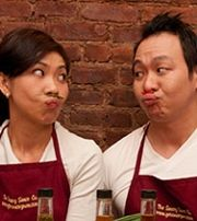 The Saucey Sauce is owned and operated by two siblings, Ken and Toan. Usually when you think of a family owned business you think of tradition, but this duo is quite literally spicing it up by showcasing their creative energies through the sauces they make.