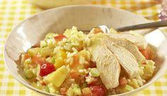 MAGGI Rezeptidee fuer Fruchtiger Reissalat