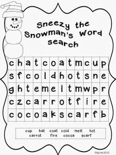 Mrs Jump's class: Sneezy the Snowman unit and Freebie