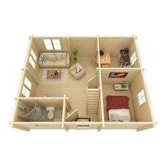 Small House Layout, Small House Design, House Layouts, Cabin Homes, Cottage Homes, Prefabricated Houses, Building A New Home, Dream House Plans, Tiny House Living