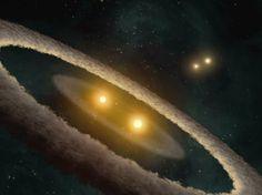 Encontrado em io9.com Inédito: Astrônomos amadores descobrem planeta com quatro sóis  io9 Dois astrônomos voluntários confirmaram a existência de um planeta semelhante a Netuno, que tem quatro sóis, tornando-se o primeiro sistema estelar quádruplo já descoberto. O planeta, que é de 5.000 anos-luz de distância da Terra, orbita perto de um par de estrelas, que por sua vez forma uma unidade que gira em torno de um s ...