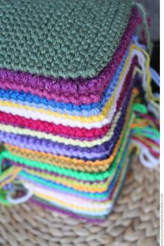 J'♥ les couvertures, plaids et cie. Crochet Crafts, Free Crochet, Knit Crochet, Plaid Crochet, Diy Crafts, Loom Knitting, Knitting Patterns, Crochet Patterns, Patchwork Blanket
