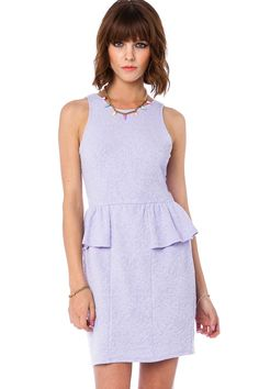 Harmia Peplum Dress in Lavender / ShopSosie #peplum #dress #lavender #spring #stretch #shopsosie