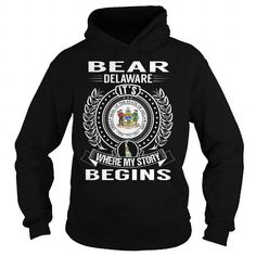 I Love Bear, Delaware Its Where My Story Begins Shirts & Tees
