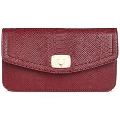 Inc International Concepts Surena Clutch ($44) ❤ liked on Polyvore featuring bags, handbags, clutches, wine snake, chain strap purse, patent leather clutches, inc international concepts, red patent leather handbags and patent leather purse