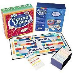 Finish Line - the game where players compete to finish famous lines from history, literature, movies and more!