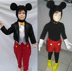 Disfraz Traje Inspirado En Mickey Mouse C/accesorios Hermoso ...