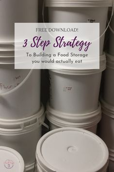 Overwhelmed with food storage? Want to store food you'll actually eat? Grab my simple 3 step strategy to building a simple food storage. Lds Food Storage, Emergency Food Storage, Long Term Food Storage, Emergency Preparedness Plan, Prepper Food, Frugal Living Tips, Free Food, A Food, Pantry