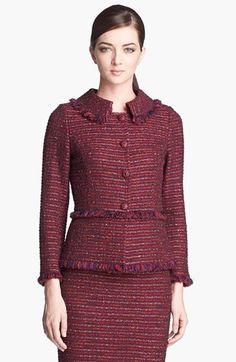 St. John Collection Organza Ribbon Tweed Knit Jacket available at #Nordstrom