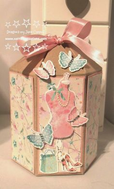 Carroll's Creations: Crafter's Companion June Challenge: Tags, Bags & Boxes - Hexagon Box including picture tutorial: