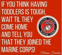 So true....Although I am scared I couldn't be more proud of my son.