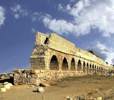 Herodus aquaduct in Caesarea, Israel