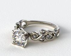 14k white gold blossoming vine diamond engagement ring - James Avery Wedding Rings