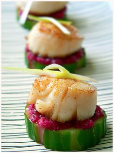 Finger Food Scallops and Cucumber