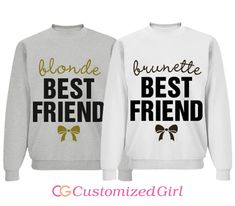 Brunette and Blonde Matching Best Friend Shirts