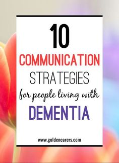 Communication is vital to our well-being. People living with dementia slowly lose their language skills and their ensuing quality of life. Here are some tips to help communicating with people living with dementia. Elderly Activities, Dementia Activities, Senior Activities, Elderly Crafts, Craft Activities, Dementia Crafts, Cognitive Activities, Spring Activities, Daily Activities
