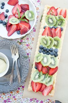 Fruit Tart with Cardamom Cream