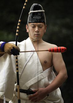 Momote-shiki, an archery ritual to commemorate Seijin-no-hi (Coming-of-Age Day) in the precincts of Meiji Shrine, Tokyo, Japan