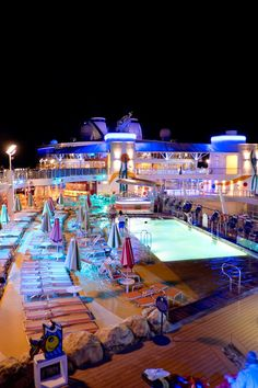 Allure of the Seas   That epic deck life. Cruise on Allure of the Seas with Royal Caribbean and enjoy numerous pools & hot tubs, top-quality shows in the AquaTheater, outstanding dining, a zip line nine decks up, and more.