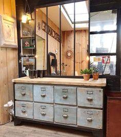 Meuble de garage métal & bois - Début XXème -