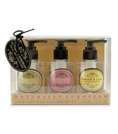 Naturally European Luxury Hand Wash Collection 3 x 100ml