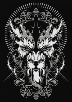 Lycanthrope Illustration by Shulyak Brothers , via Behance