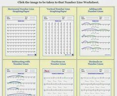 FREE Number Line Worksheets Creator