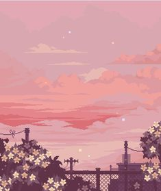 Pixel sunset January 11 2020 at Aesthetic Pastel Wallpaper, Aesthetic Backgrounds, Aesthetic Wallpapers, Aesthetic Images, Aesthetic Anime, Aesthetic Art, Aesthetic Drawing, Arte 8 Bits, Japon Illustration