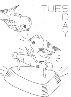 Hand Embroidery Pattern 626 Birds for Days of the  by BlondiesSpot, $3.99