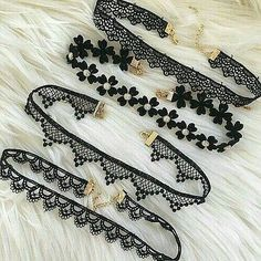 choker, accessories, and black image