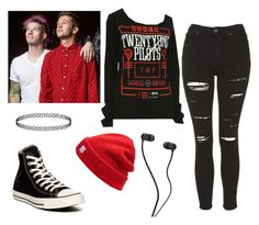 """""""Twenty one pilots"""" by shanno92913 on Polyvore featuring Topshop, Converse and Madewell"""