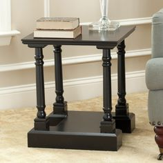 @Overstock - Add some contemporary style to your home décor with this Cape Cod black end table. Constructed of sturdy pinewood, this table features a thick base that gives it extra stability. The versatile design makes it a great cap for a couch, chair, or loveseat.http://www.overstock.com/Home-Garden/Cape-Cod-Black-End-Table/6971937/product.html?CID=214117 $132.29