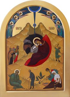 Nativity contemporary icon by Oleksandr Ivolha
