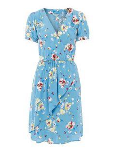 Dickins & Jones Ladies vintage floral ruffle dress Multi-Coloured - House of Fraser