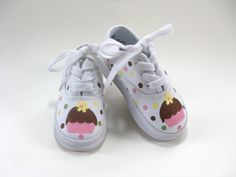 Girls Cupcake Shoes Baby and Toddler by boygirlboygirldesign, $30.00