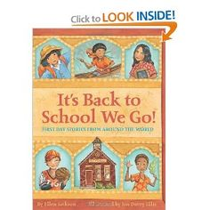 It's Back to school we Go!  In easy-to-read text, describes what the first day of school might be like for a child in Kenya, Kazakhstan, Canada, Australia, Japan, China, Peru, Germany, India, Russia, and the United States.Just Luv'd on @Luvocracy |