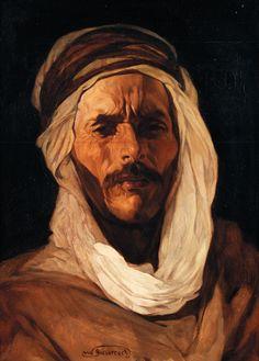 Peinture Algérie - JULES VAN BIESBROECK (1873-1965) - ORIENTAL AU TURBAN BLANC