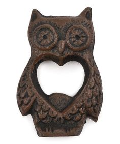 Look what I found on #zulily! Rustic Farmhouse Owl Bottle Opener #zulilyfinds