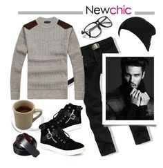 """""""Love NewChic"""" by pixidreams ❤ liked on Polyvore featuring men's fashion and menswear"""