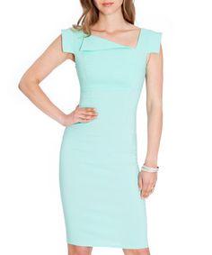 Mint asymmetric collar dress Sale - Goddiva Sale