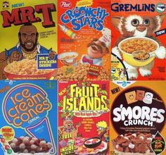 Cereals from the 80s :)