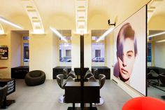 Luxury design hair salon in downtown Budapest  Furniture: B & B  Italia, Gamma and Bross