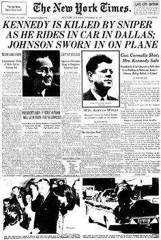 Kennedy Assassination November 22,  1963.