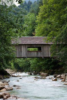 Liessenbachbrücke über der Bolgenach, Hittisau, Vorarlberg