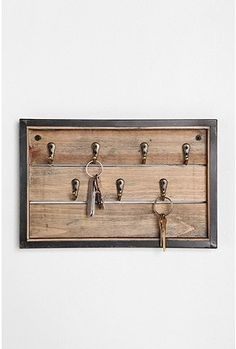 I would love to recreate this Urban Outfitters reclaimed wood key rack...